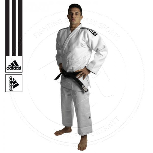 Adidas Judo Suit Champion 2 Gi 750g White Premium Slim Fit IJF Approved Uniform | eBay