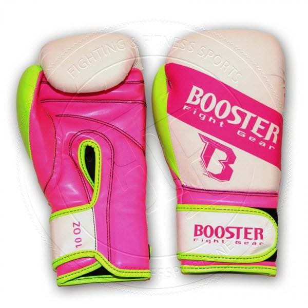 Booster Velcro Skintex Gloves White/Pink