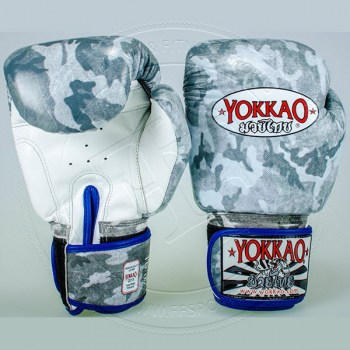Yokkao Boxing Gloves Ronin Muay Thai Fight Real Leather 12oz